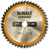 DeWalt Bau-Kreissägeblatt für Stationärsägen/Kreissägenblatt (250/30 mm 48WZ, universeller Einsatz und Querschnitte) DT1957*