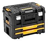 DeWalt TSTAK stabelbare Werkzeugbox (Transportbox Combo bestehend aus TSTAK II, TSTAK IV, kombinierbar mit anderen TSTAK-Boxen, sichere Verwahrung von Elektrowerkzeugen und Handwerkzeugen) DWST1-70702