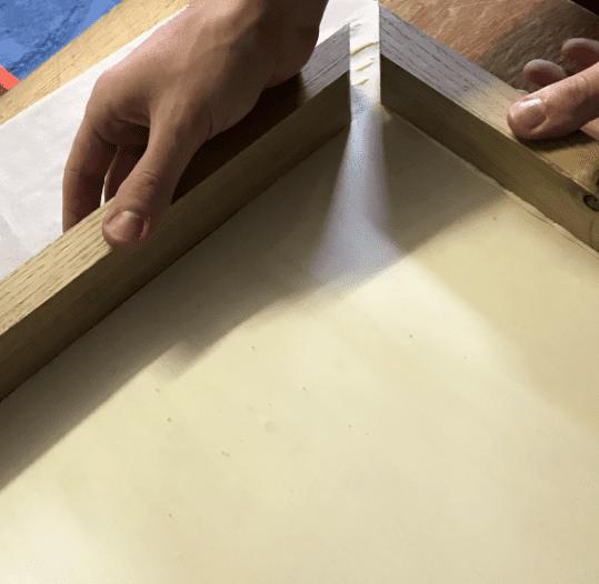 Rahmen zusammen bauen