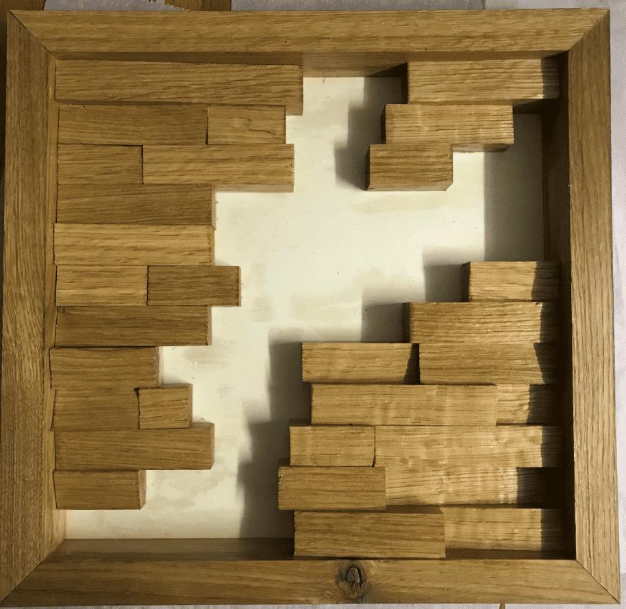 Moosbild selber machen - Oberflächenbehandlung mit Leinölfirnis.