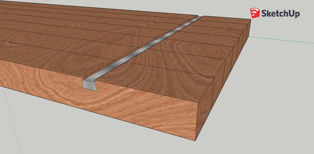 Gratleiste zum zu vermeiden, dass Holz arbeitet