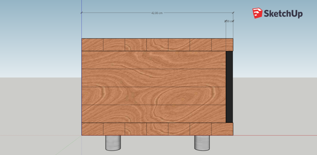 Konstruktionszeichnung Lowboard.