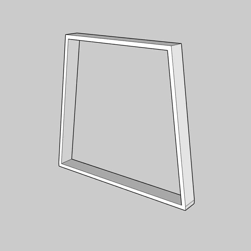 Trapezgestell als Couchtischgestell oder Esstischgestell.