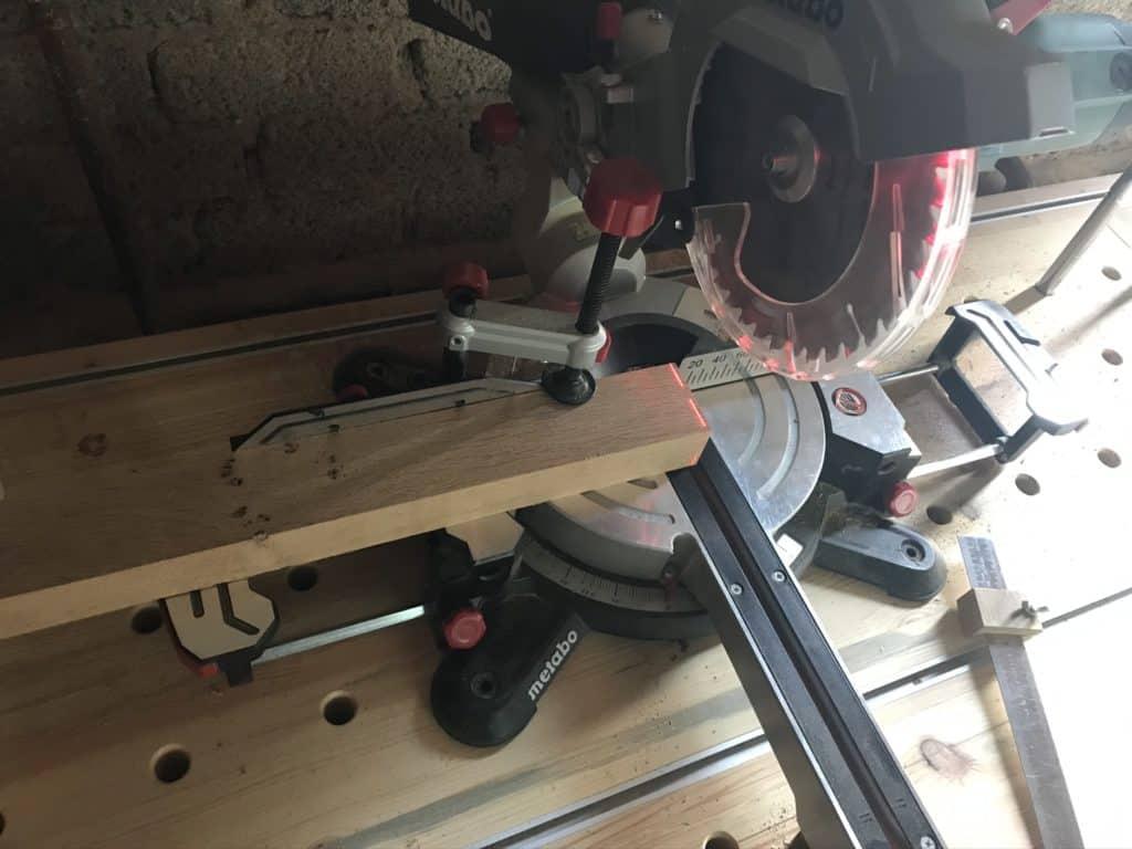 Kantholz auf Maß sägen