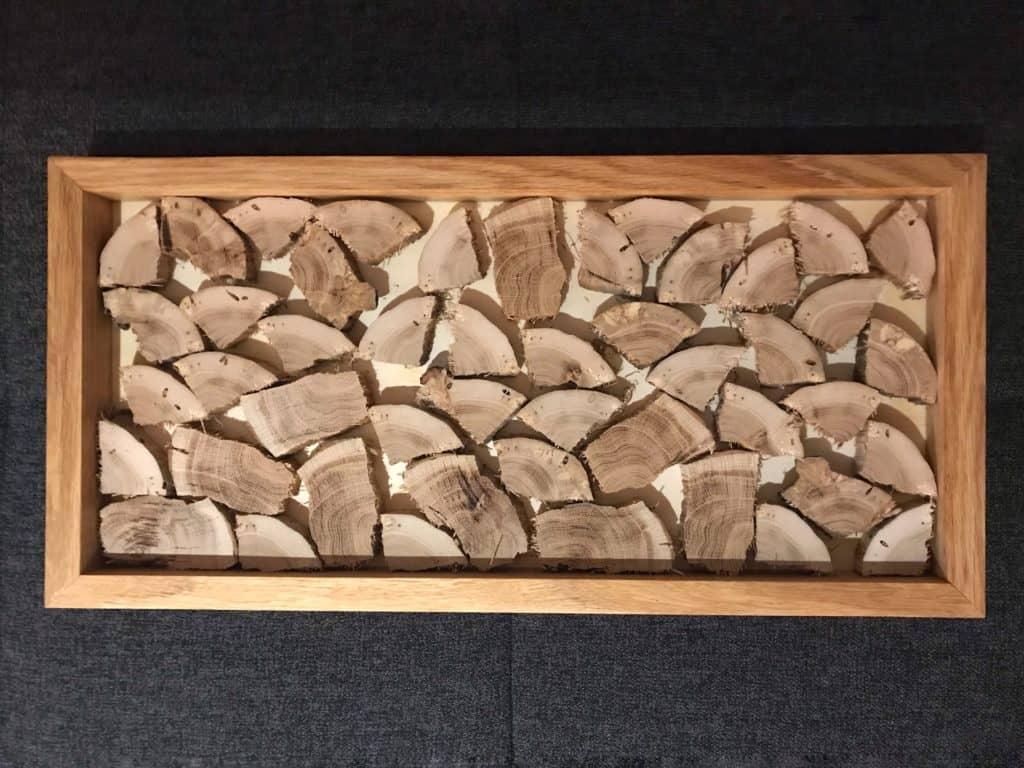 Wandbild Holzstapel