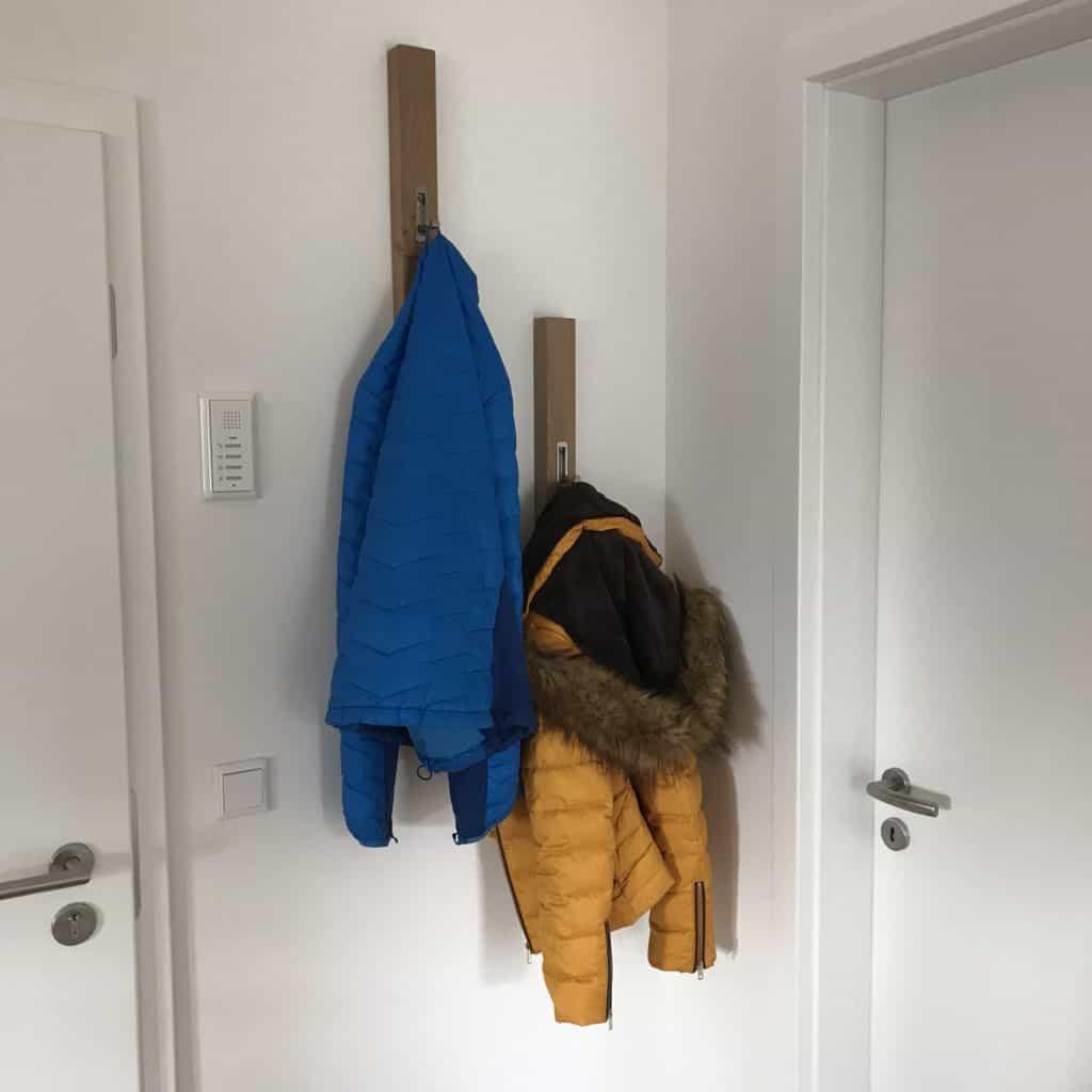 Schmale Garderobe selber bauen