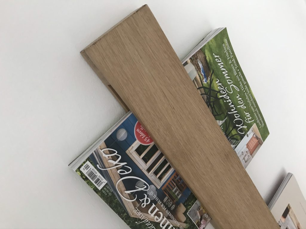 Zeitschriftenhalter aus Eiche selber bauen