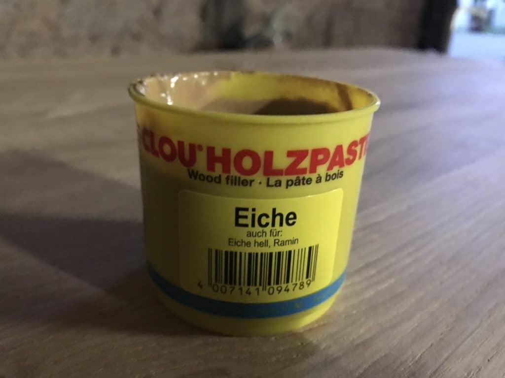 Holz Kratzer entfernen Holzpaste