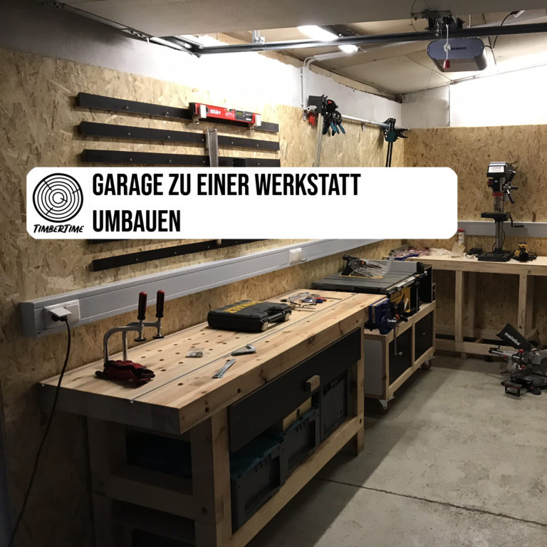 Garage zur Werkstatt umbauen
