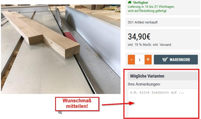 Eiche Kantholz online kaufen