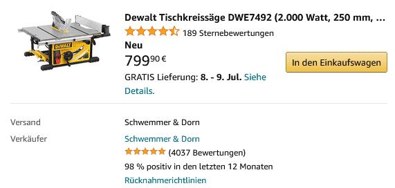 DeWALT DWE7492 kaufen